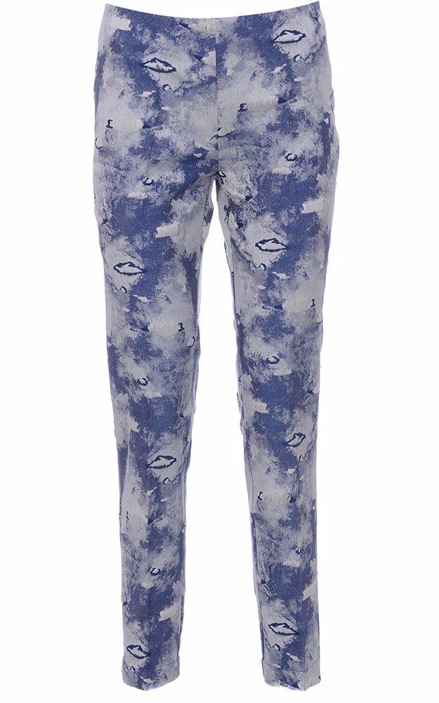 timeless design 32bd0 39cfe Cotton High Waist Straight Leg Trousers Sky Blue