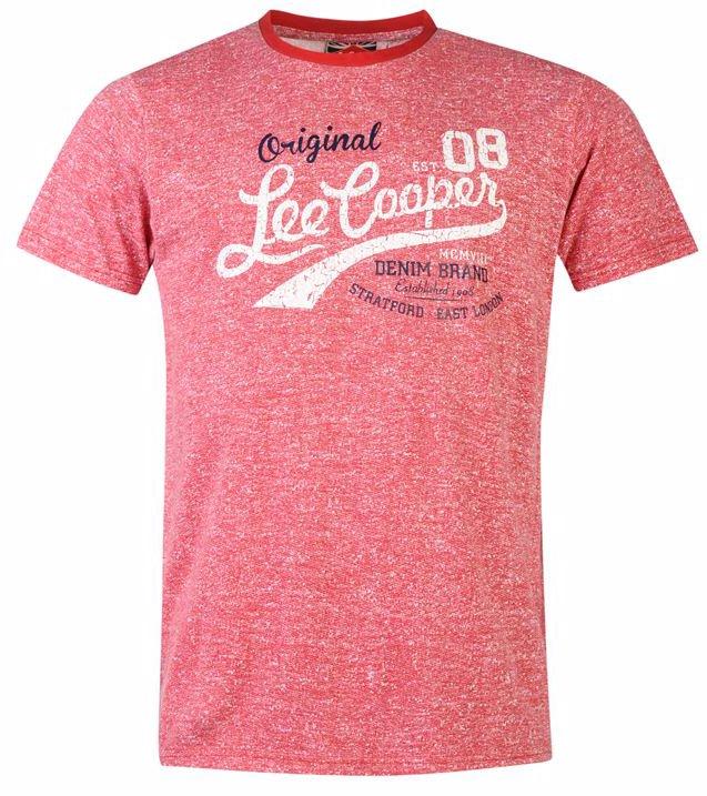 ae578cbef SINGSALE | Lee Cooper Textured T Shirt Mens