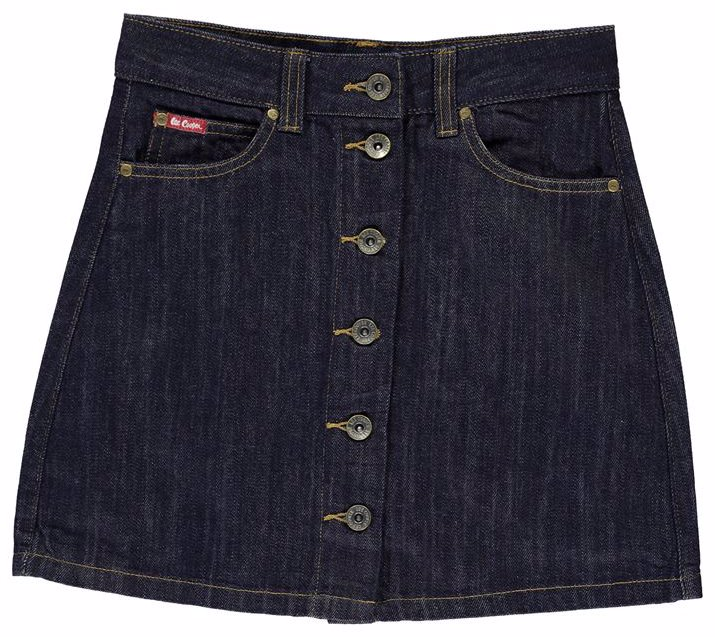 c47de37cd NZSALE | Lee Cooper Button Denim Skirt Junior Girls