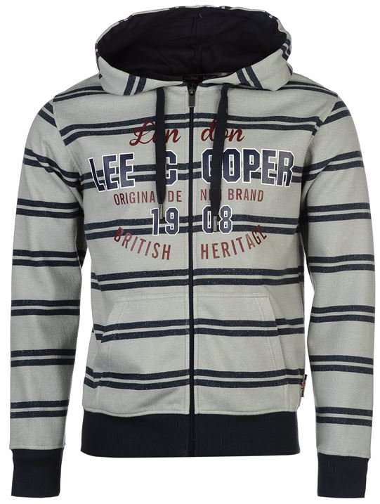eb8ddbd652 SINGSALE | Lee Cooper Textile All Over Print Zip Hoody Mens