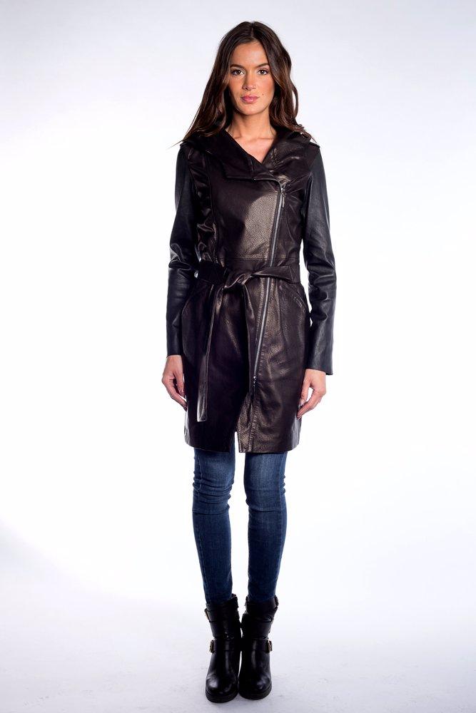 534042ca42e47 BuyInvite | John & Yoko Leather Coat Black