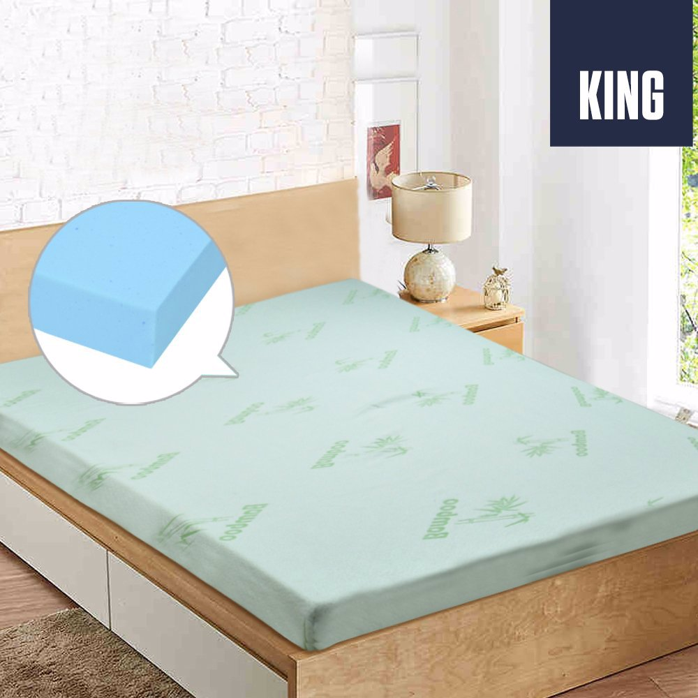 Buyinvite Discontinued Gel Memory Foam Mattress Topper Bamboo