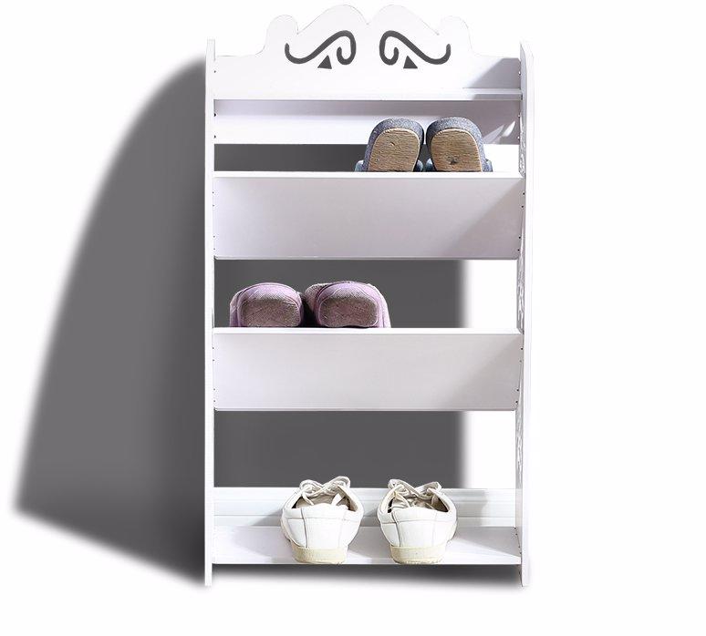 Dealsdirect Levede Levede 4 Tiers 43 Width Tilt Chic Hollow Shoe Rack Stand Storage Organiser Shelf