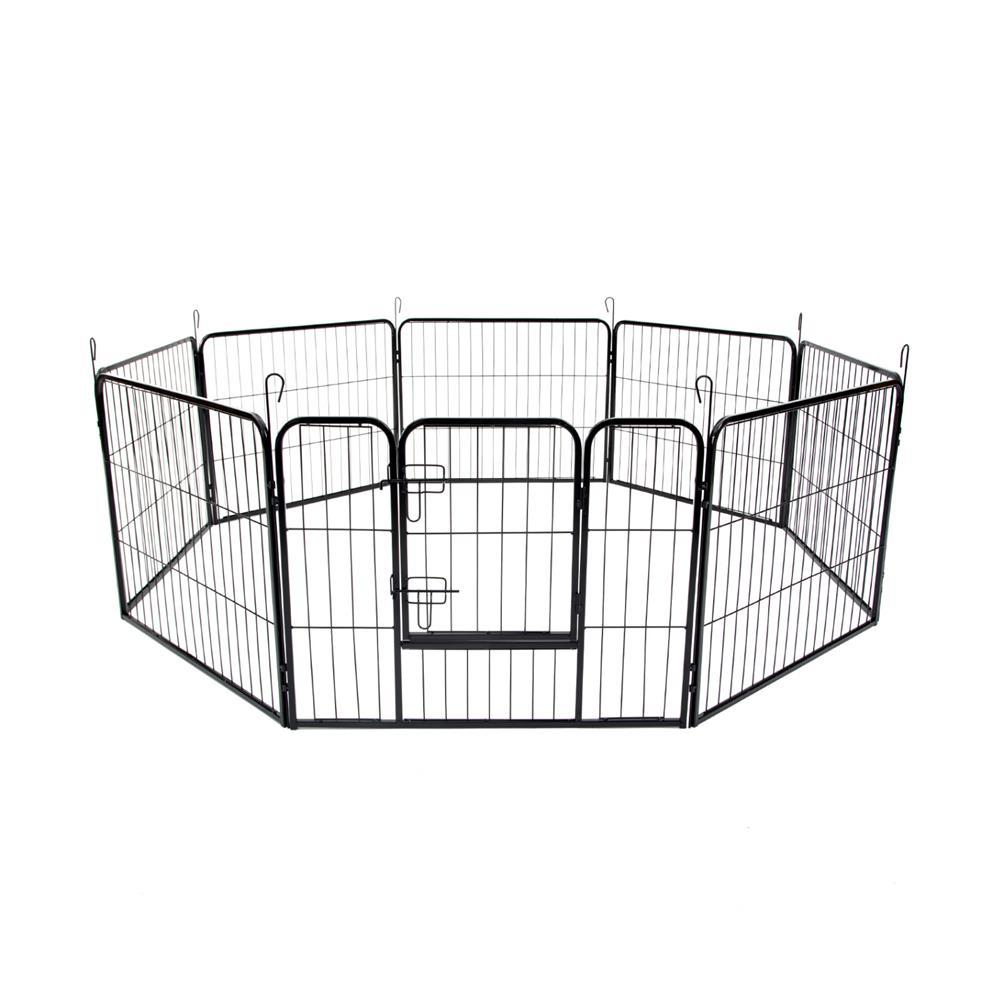 "Pet Playpen Heavy Duty Foldable Dog Cage 8 Panel 31"""