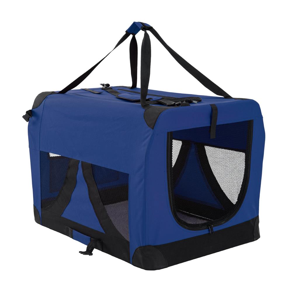 Portable Soft Dog Cage Crate Carrier XL BLUE