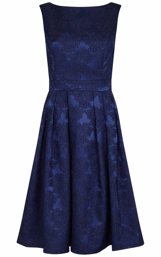 8efb43054740 NZSALE | ISKA Embossed Effect Prom Dress Navy