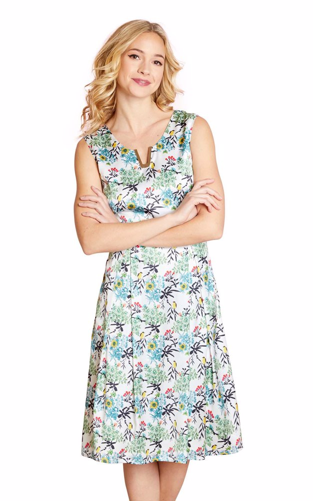 cec1835074df SINGSALE | YUMI Bird Printed Prom Dress
