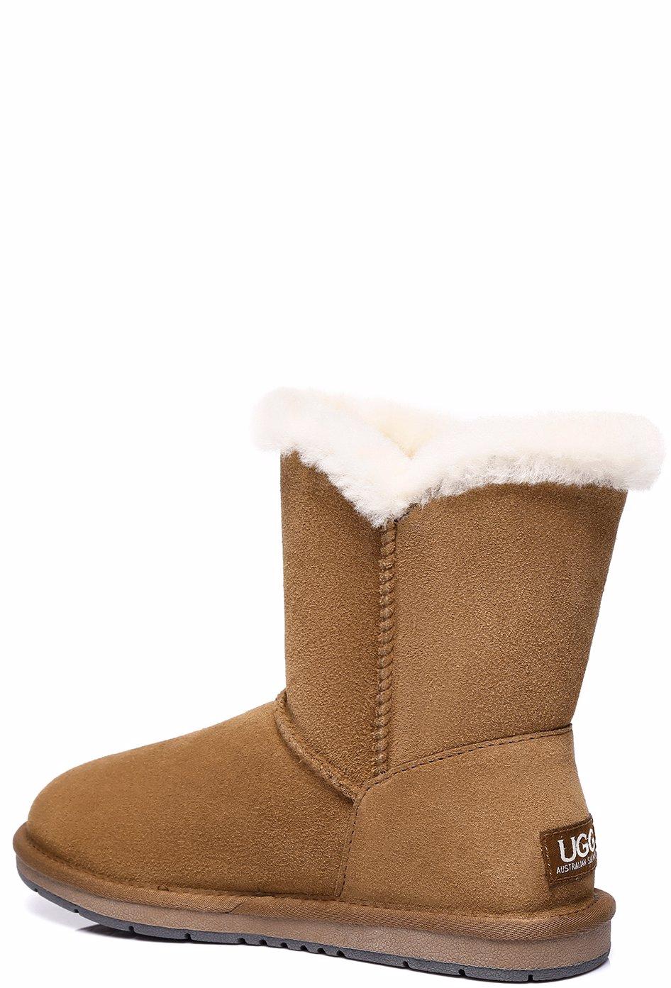 50831750f34 AS UGG Short Button Boots Alva #511021 Chestnut AU Ladies 4 / AU Men 2 / EU  35