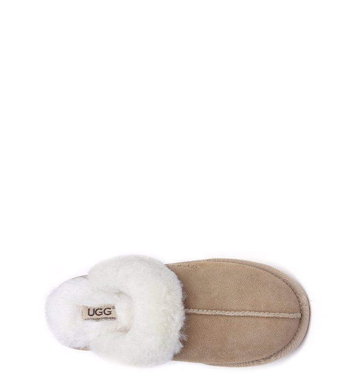 81d6eb7fa09 UGG Slippers,Australia Premium Sheepskin,Unisex Rosa Scuff #15636 Sand AU  Ladies 11 / AU Men 9 / EU