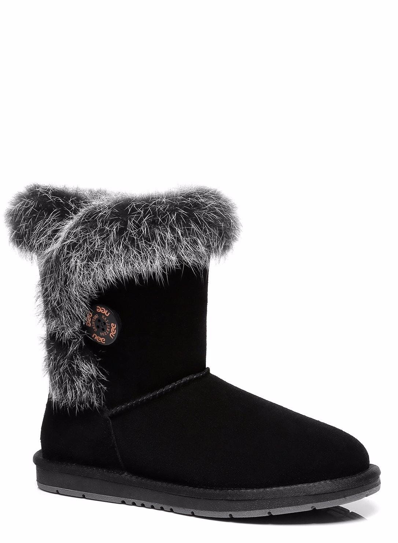9ae014496d8 AS UGG Short Button Boots Donna #521009 Black AU Ladies 4 / AU Men 2 / EU 35