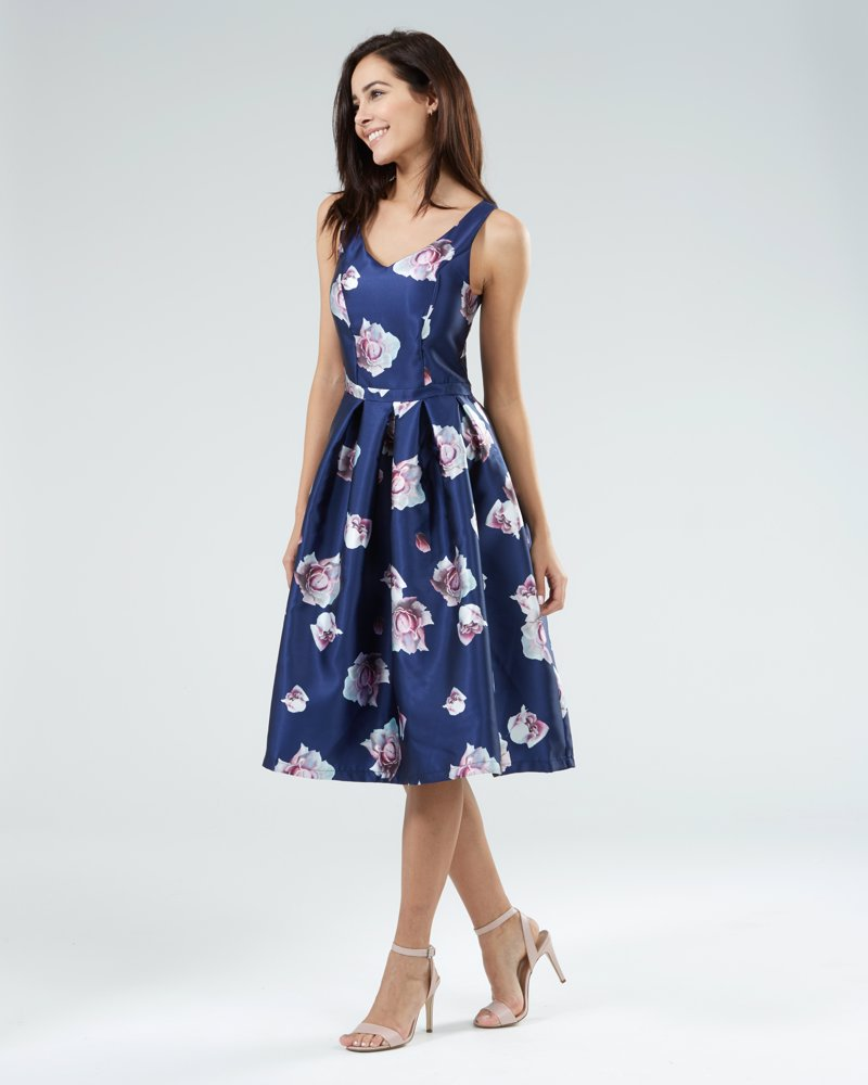 565987280a48 OZSALE | Zibi Sateen Prom Dress Navy