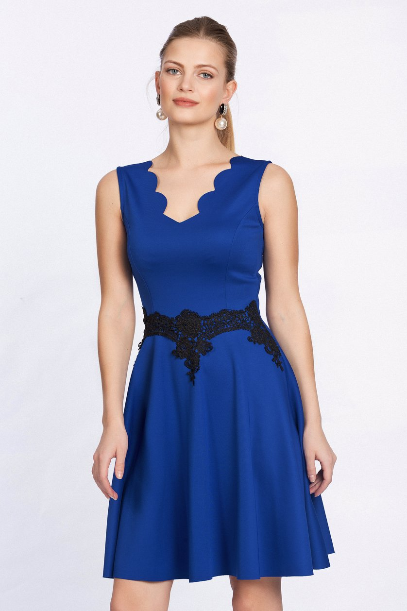 af5c7ea582ea MYSALE | Lafaba By Zibi London Laser Cut Prom Dress Blue