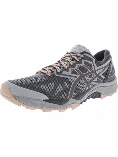 94bb5ec539 Asics Women's Gel-Fujitrabuco 6 Mid Grey / Carbon Evening Sand Ankle-High  Running Shoe