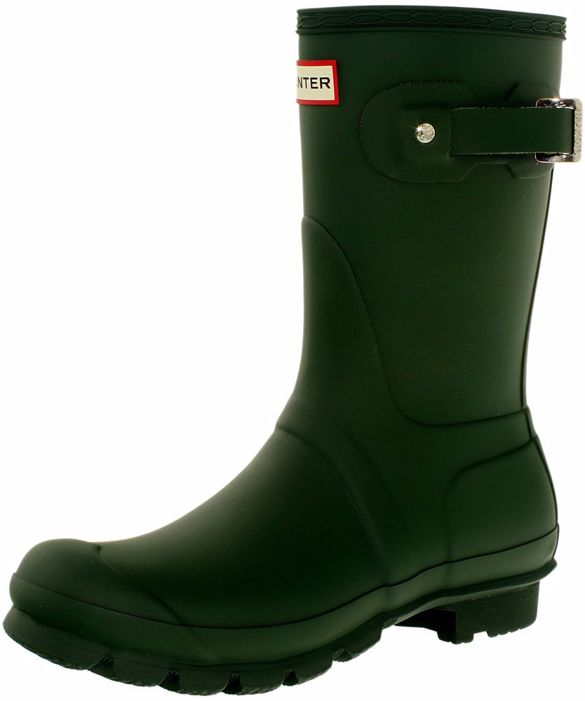 b10bda426 OZSALE | Hunter Women's Original Short Green Mid-Calf Rubber Rain Boot