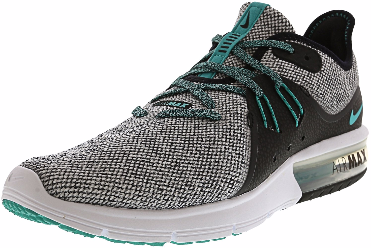bcdabc7eacd This product is not available. Preview with Zoom. Loading... Nike. Men s  Air Max Sequent 3 White Hyper Jade - Black Ankle-High Running Shoe