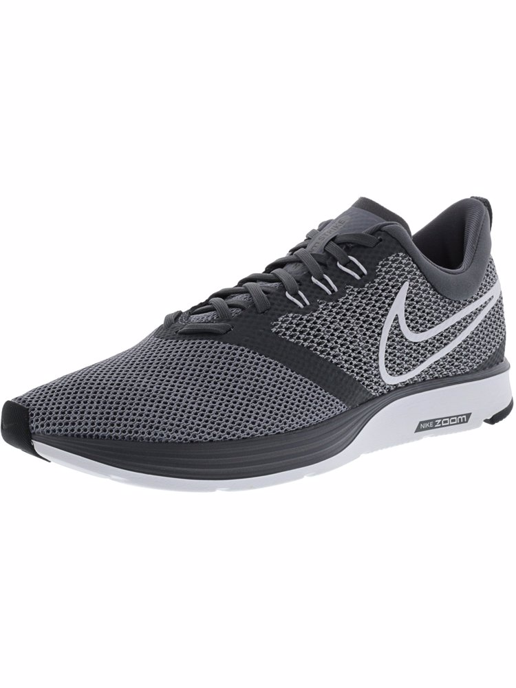 55b47568a06 Preview with Zoom. Nike. Men s Zoom Strike Dark Grey White - Stealth Black  Ankle-High Mesh Running Shoe