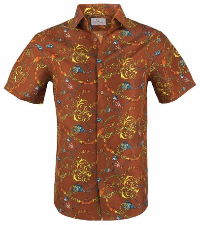 9ef661f70f6 Suslo Couture Mens Slim Fit Designable Short Sleeve Button Down Shirt