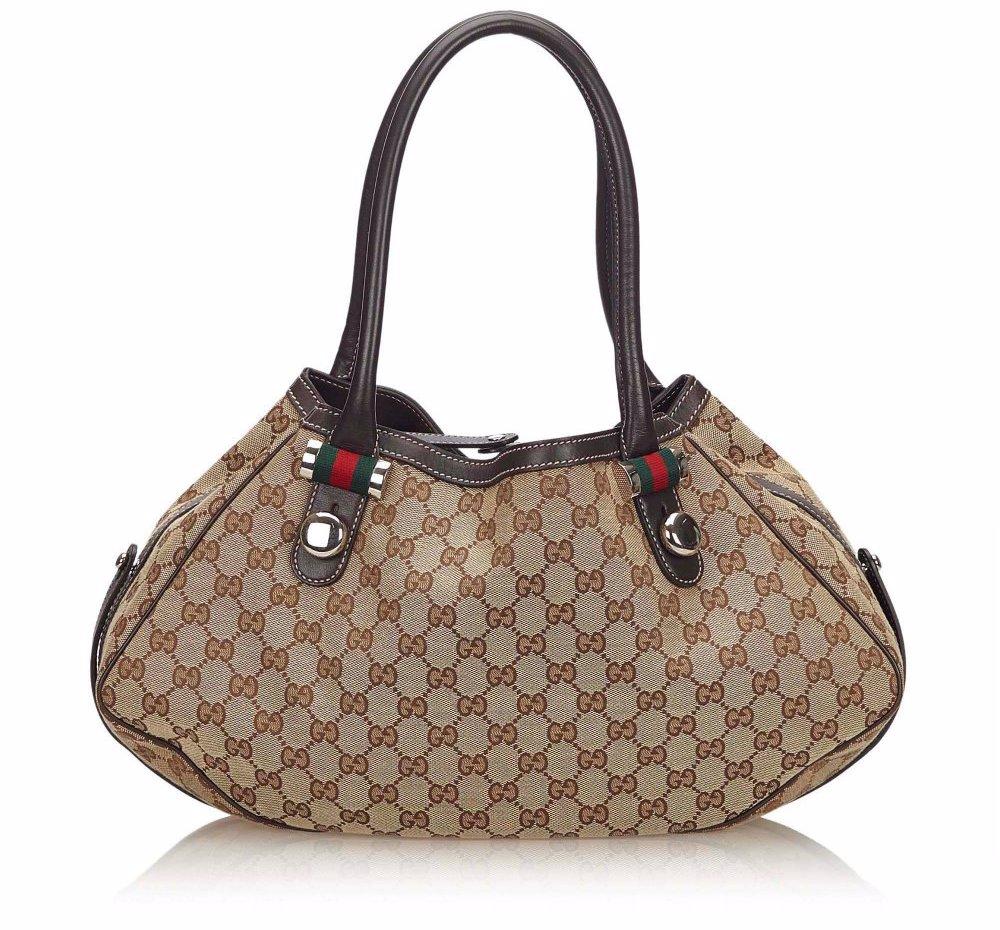 86f11549c168 SINGSALE | Gucci Pre-Loved Gucci Guccissima Jacquard Match Ball Tote ...