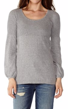 Grey Womens Long Sleeve Top