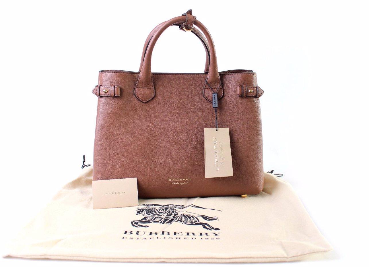 a2d46cda271 SINGSALE | Burberry Calf Leather Women Bag Brown