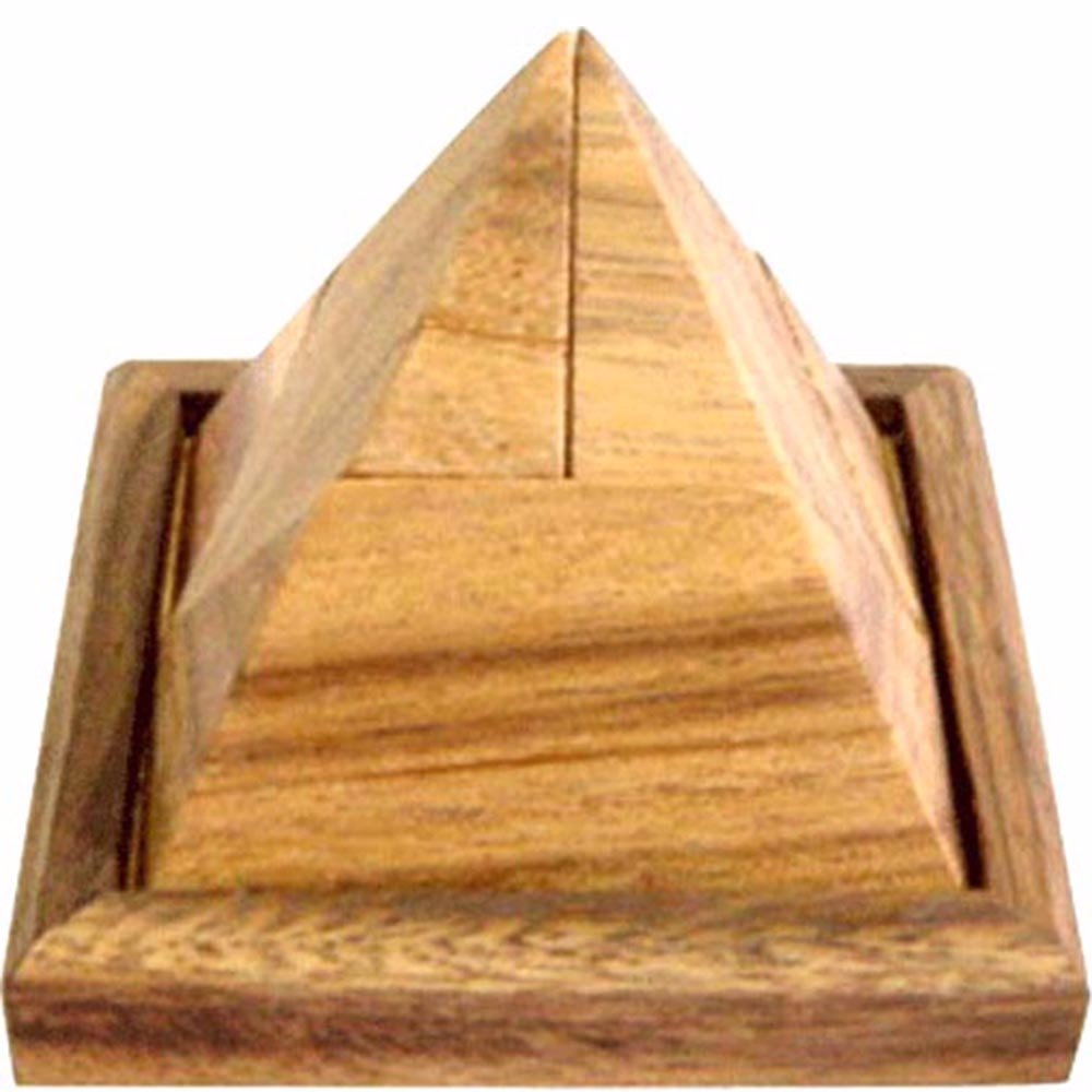 Pyramid Puzzle 5 Pieces With Base Brain Teaser Puzzle