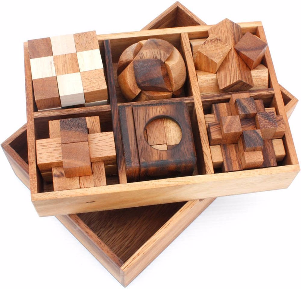 Singsale Brain Teasers 6 Puzzles Deluxe Gift Box Set 3