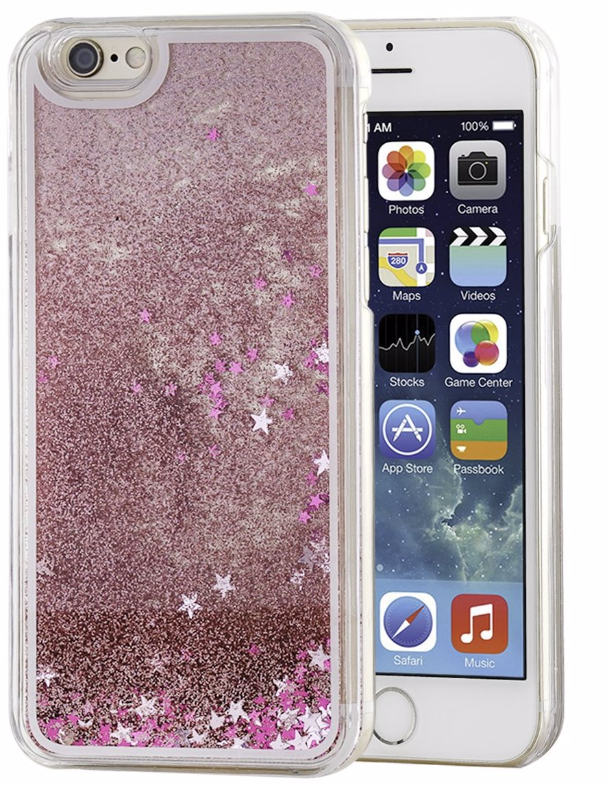 Glitters And Sparkles (Liquid Effect) Hard Case For iPhone 7 8 - Pink