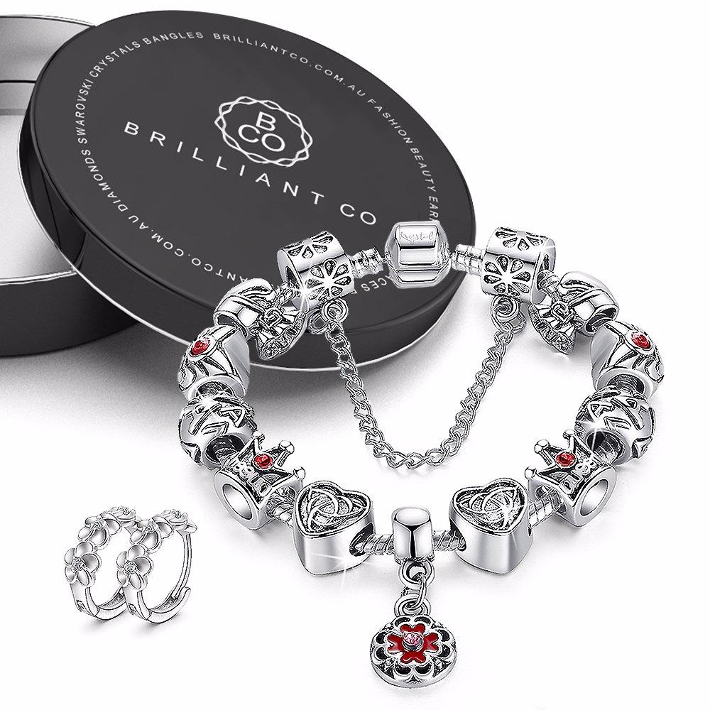 944695987 BuyInvite | Obsession Pandora Inspired Full Set Beaded Charm Bracelet