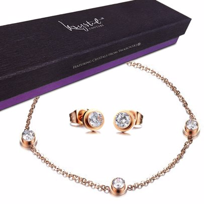 b419585e1 BuyInvite | Bullion Gold Boxed 2 Pieces Cocos Set w/Swarovski® Crystals