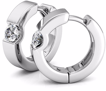 38b5633be8b3d Center Stone Huggie Earrings featuring embelishments of Swarovski® Crystals