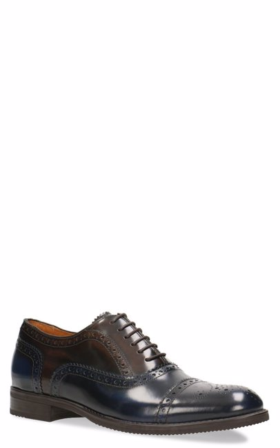 047c1d1120d3f BuyInvite | Gino Rossi Leather Mens Formal Lace Ups Navy Blue/Dark Brown