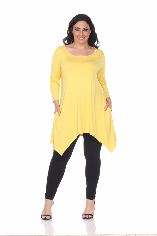4778e912d040f Preview with Zoom. White Mark. Plus Size Makayla Tunic Top Mustard