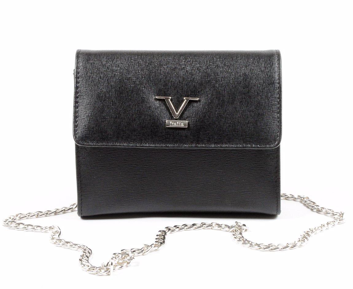 de237d81ac TopBuy | Versace 1969 Abbigliamento Sportivo SRL Milano Ita Leather Womens  Bag 2560 Saffiano Black