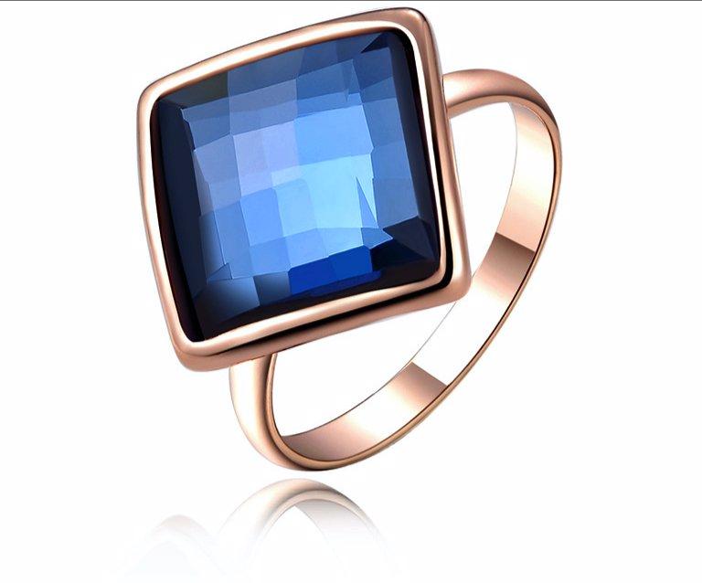 eae19dc7f BuyInvite   Ma Petite Amie Square Ring adorned with Swarovski Crystals