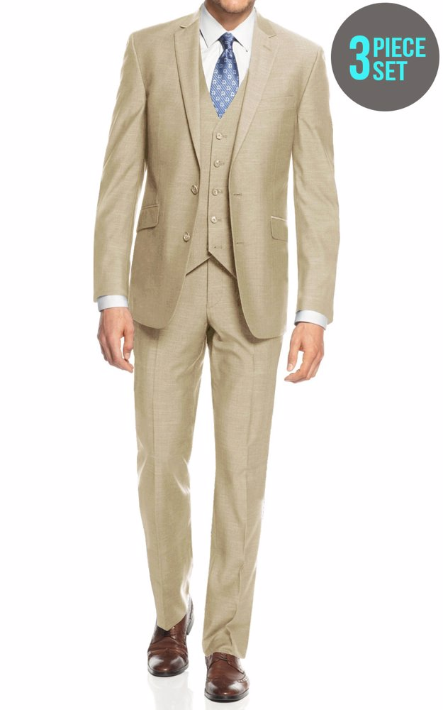 1f1ad1e6d66 Preview with Zoom. Braveman. Mens Slim Fit 2 Button 3 Piece Suit ...