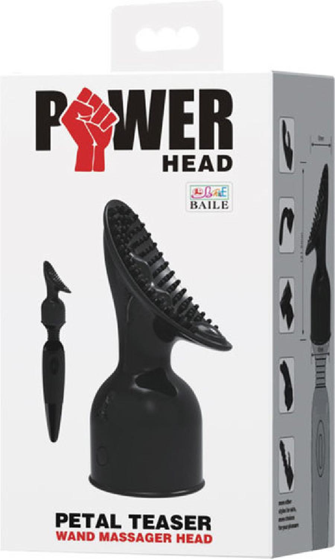 Petal Teaser Wand Massager Head (Black)