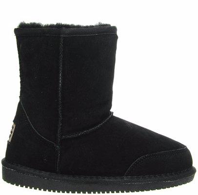 e8e9e6eb4ec Sheepskin Black Short Boots