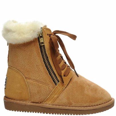 298e40ce3c8 Sheepskin Chestnut Zippered Short Boots