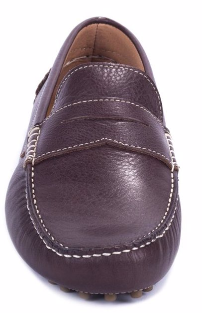 a26f65eb0042 BuyInvite | Ortiz & Reed Men's Brown Leather Moccasin