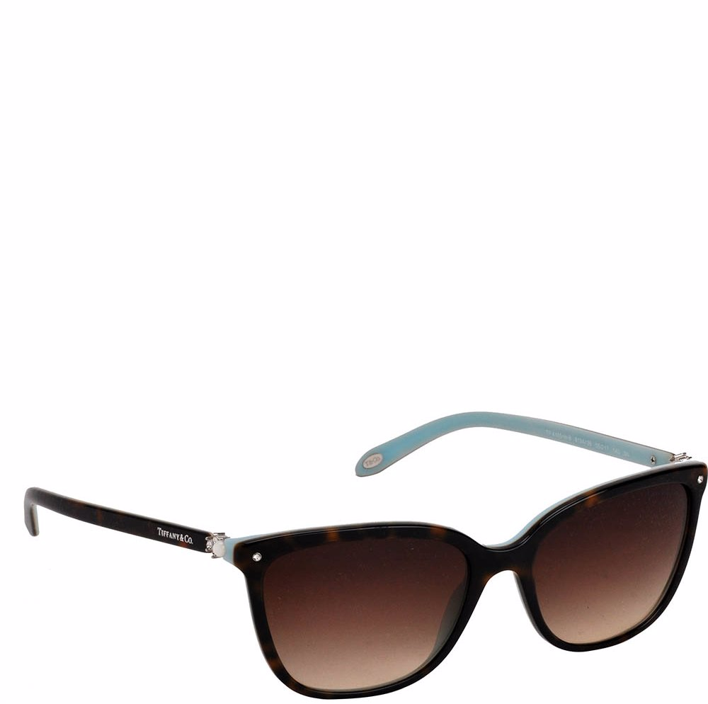 c59047050bc49 Preview with Zoom. Tiffany   Co. Havana Blue Plastic Sunglasses