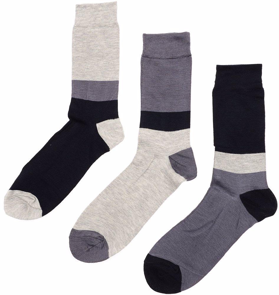 702e2b473e6fb BuyInvite   Green Treat 3 Pack Socks Grey Charcoal Block