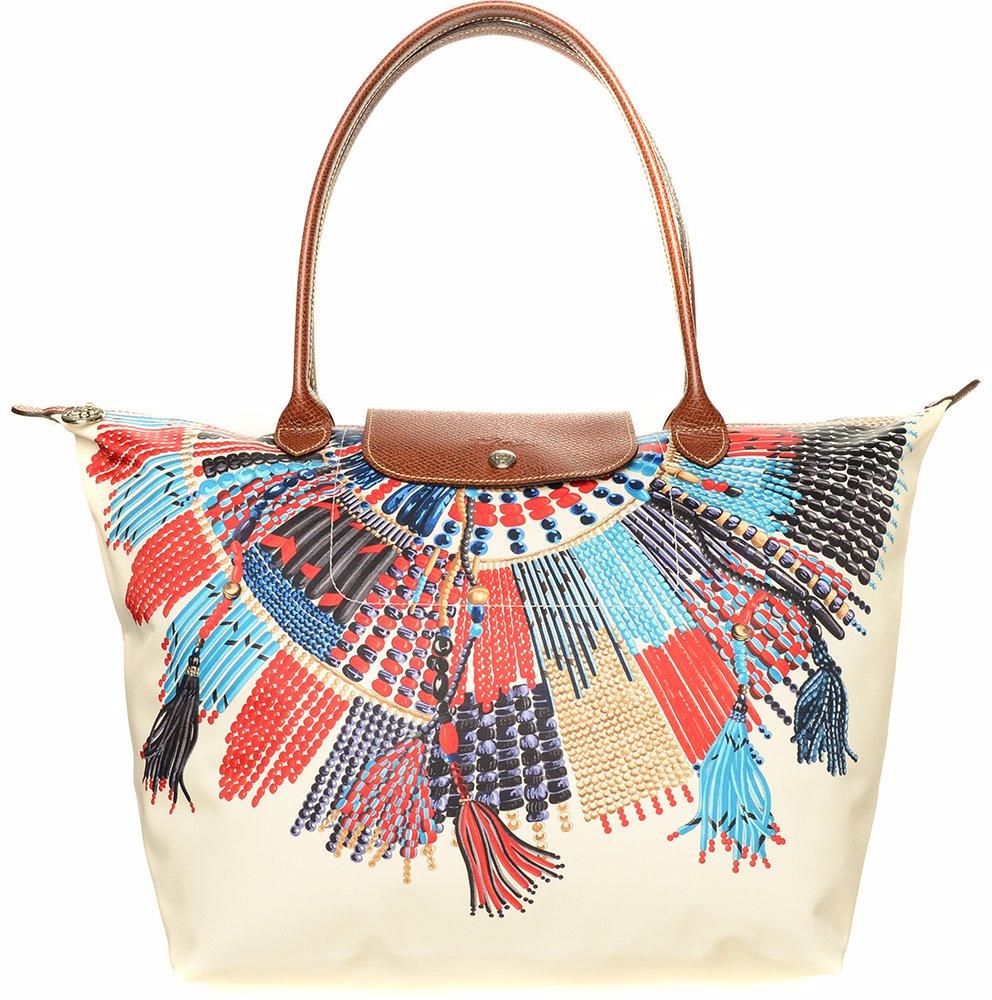 tout neuf 960ee 57943 Le Pliage Medium Collier Massai Shoulder Bag Blue/Red