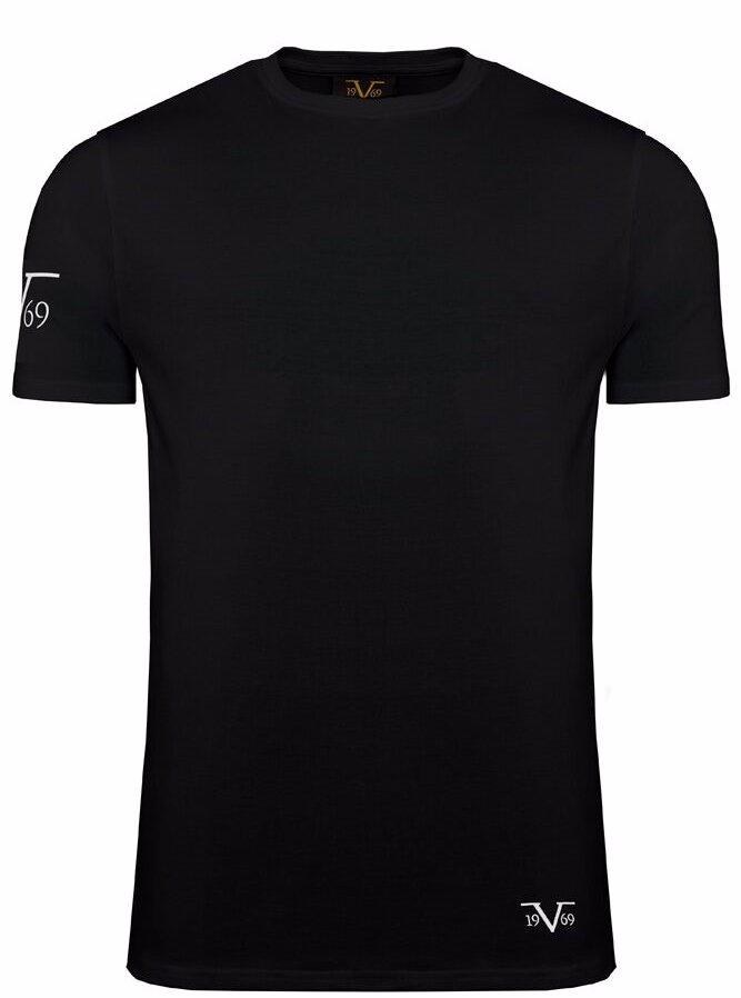 50aedbf5 Preview with Zoom. Versace 1969 Abbigliamento Sportivo Srl Milano. 3 Pack  Cotton T-Shirt Round-Neck Black