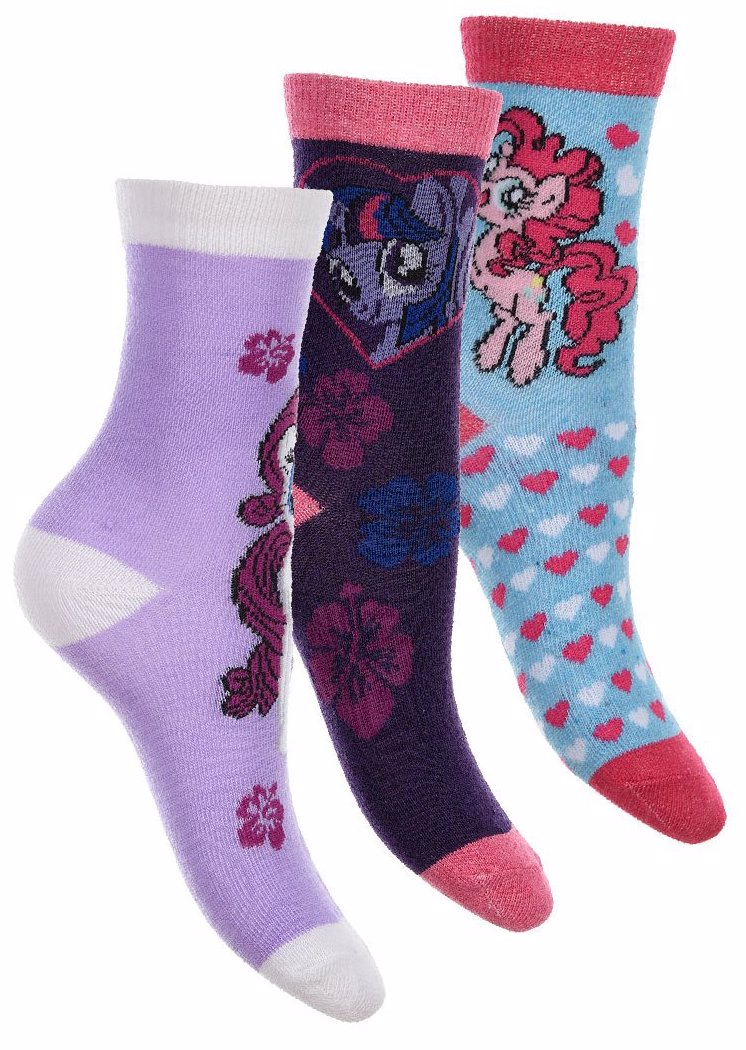ad47848cd5ab BuyInvite | My Little Pony 3 Pack of Kids Socks