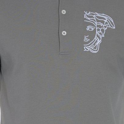 www.singsale.com.sg — Versace Collection Medusa Logo Contrast Collar Polo  Grey c880408bca6