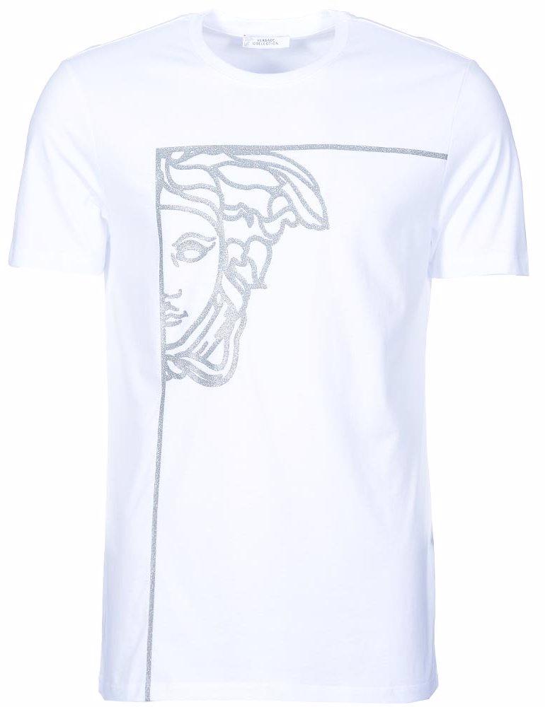 d7f391ca NZSALE | Versace Collection Medusa Logo Offset Panel T-Shirt White