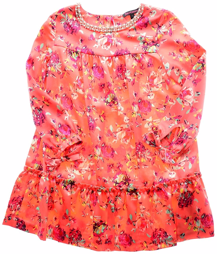 f74f847ee BuyInvite | Juicy Couture Girls Embellished Woven Dress Apricot Multi