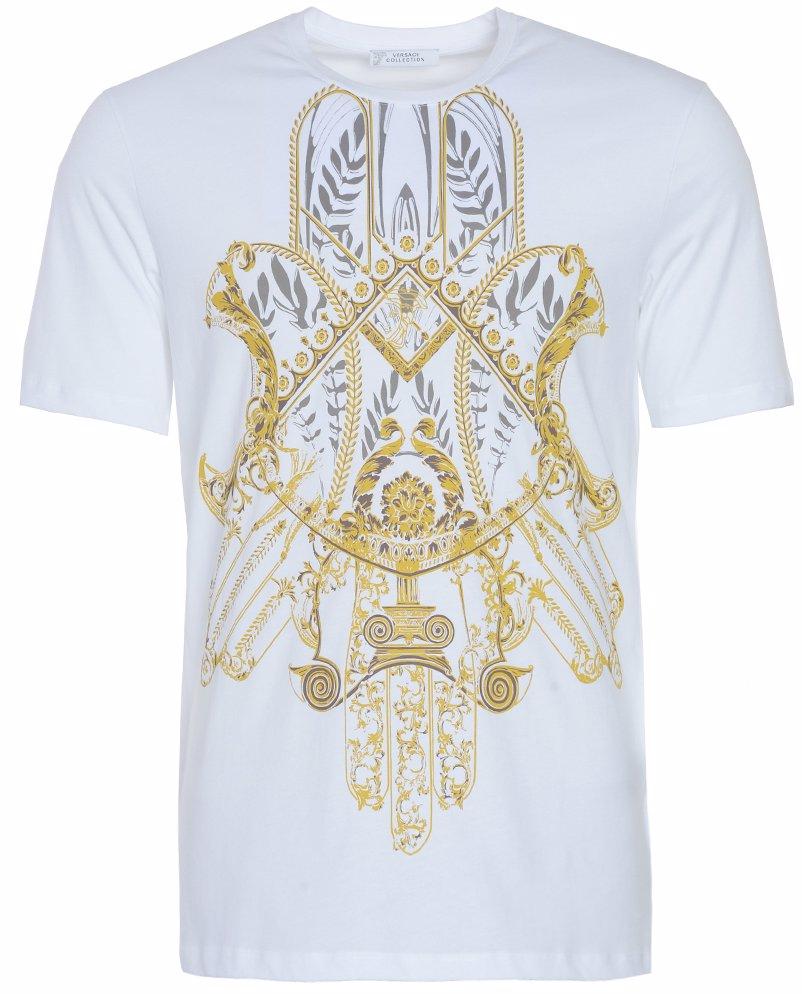 3ab0379d NZSALE | Versace Collection Medusa Logo Gold Print T-Shirt White