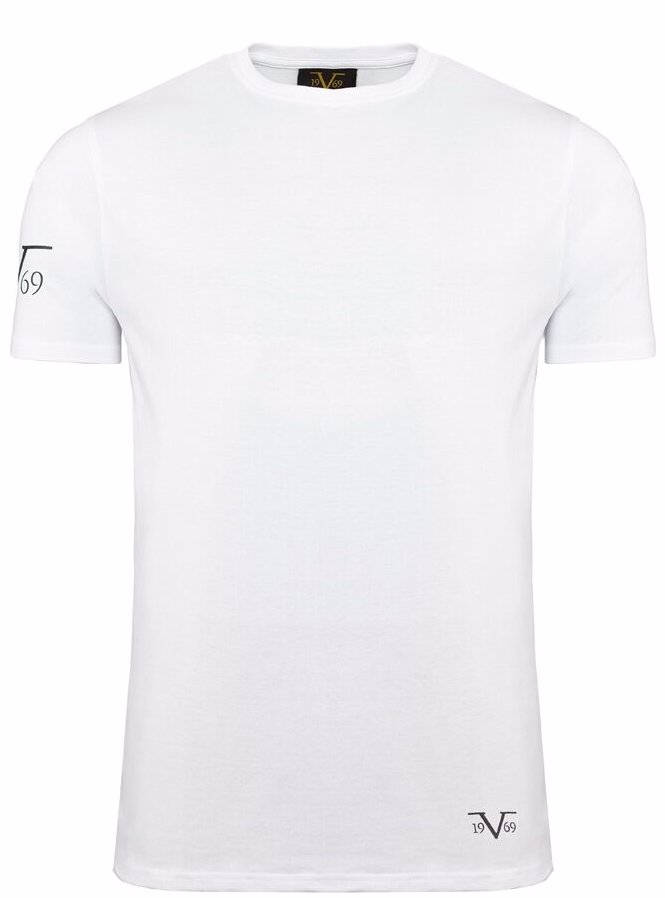 aae0d1b1 Preview with Zoom. Versace 1969 Abbigliamento Sportivo Srl Milano. 3 Pack  Cotton T-Shirt Round-Neck White