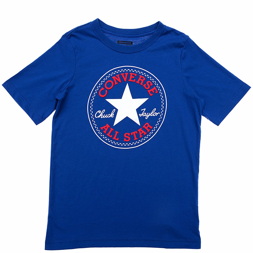 bd2e3f2f BuyInvite | Converse Chuck Patch Short Sleeve T-Shirt Navy